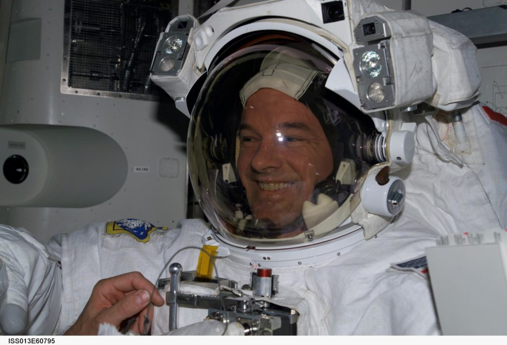 EVA preparation during Expedition 13