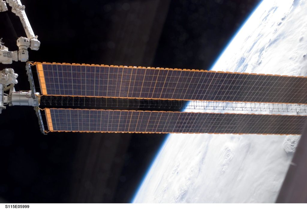 P4 Truss FWD SAW during Expedition 13 and STS-115 EVA Joint Operations