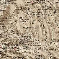 Mezmuria and Umm el Asatir in the Survey of Western Palestine 1880.17 (cropped)
