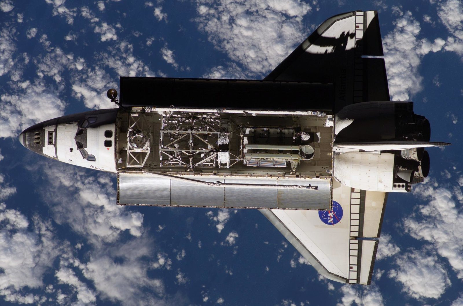 Atlantis and Payload on approach to the ISS during the STS-117 Mission