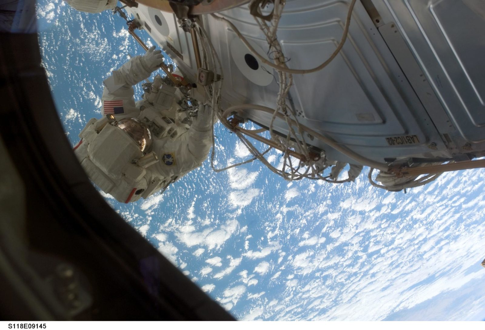 View of FE Anderson during STS-118/Expedition 15 EVA 4