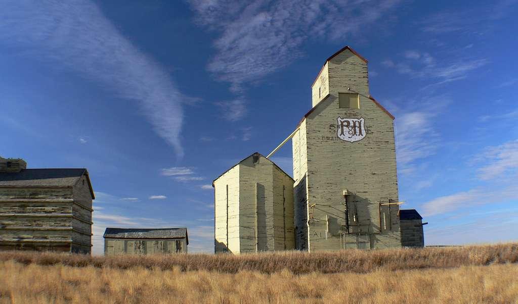 Grain elevators. Mossleigh Alberta