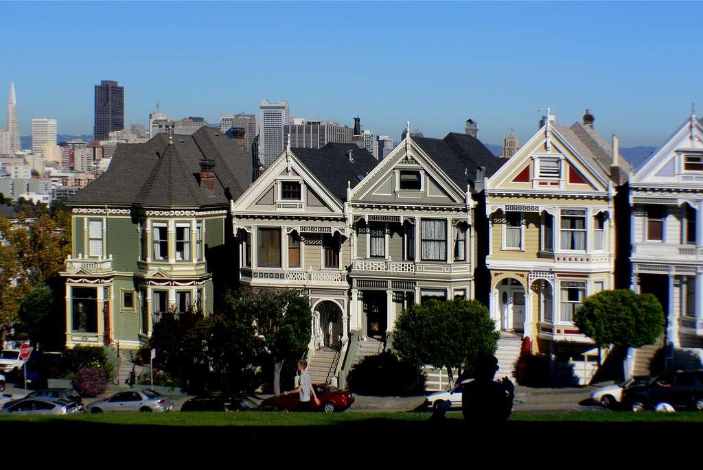 Painted ladies. San Francisco