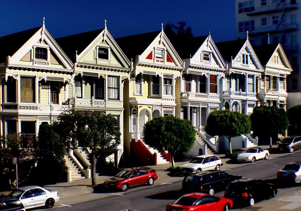Painted ladies.San Francisco.