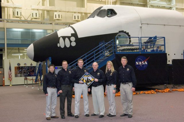 STS-124 during crew/training team photos, suit up and ASC/CAP/DES training