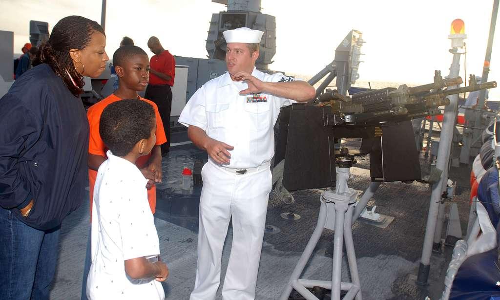 Friends, family join Sailors aboard USS Stephen W. Groves