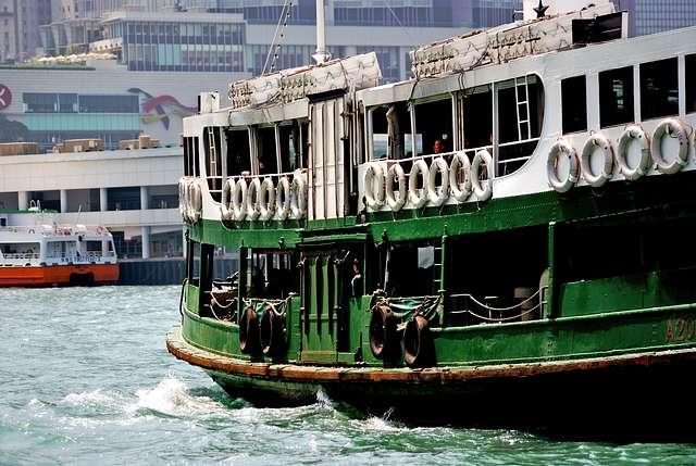 Cruising Hong Kong Harbour.