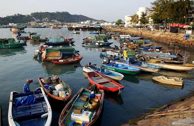 Fishing boats. Cheung Chau. Hong Kong.