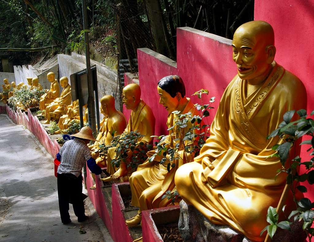 Monastery of 10,000 buddhas.
