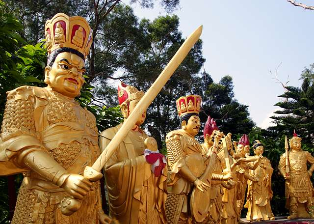 The Ten Thousand Buddhas Monastery.