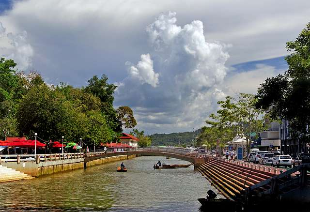 Along the canal Brunei.