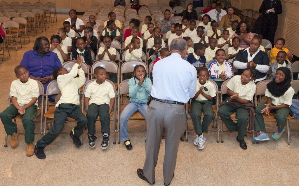 Bolden Visit Davis Elementary