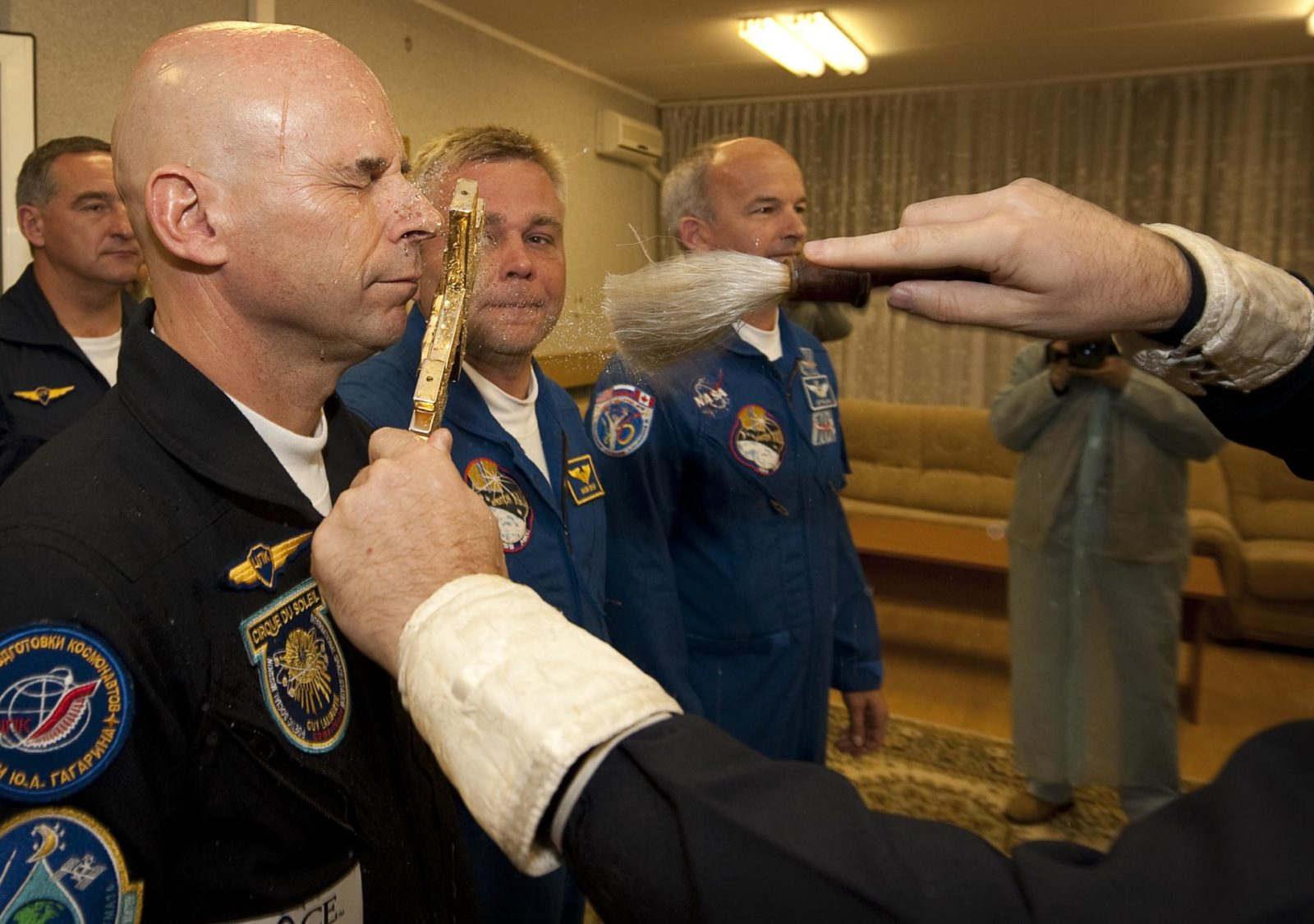 Expedition 21 Crew Prepares For Launch