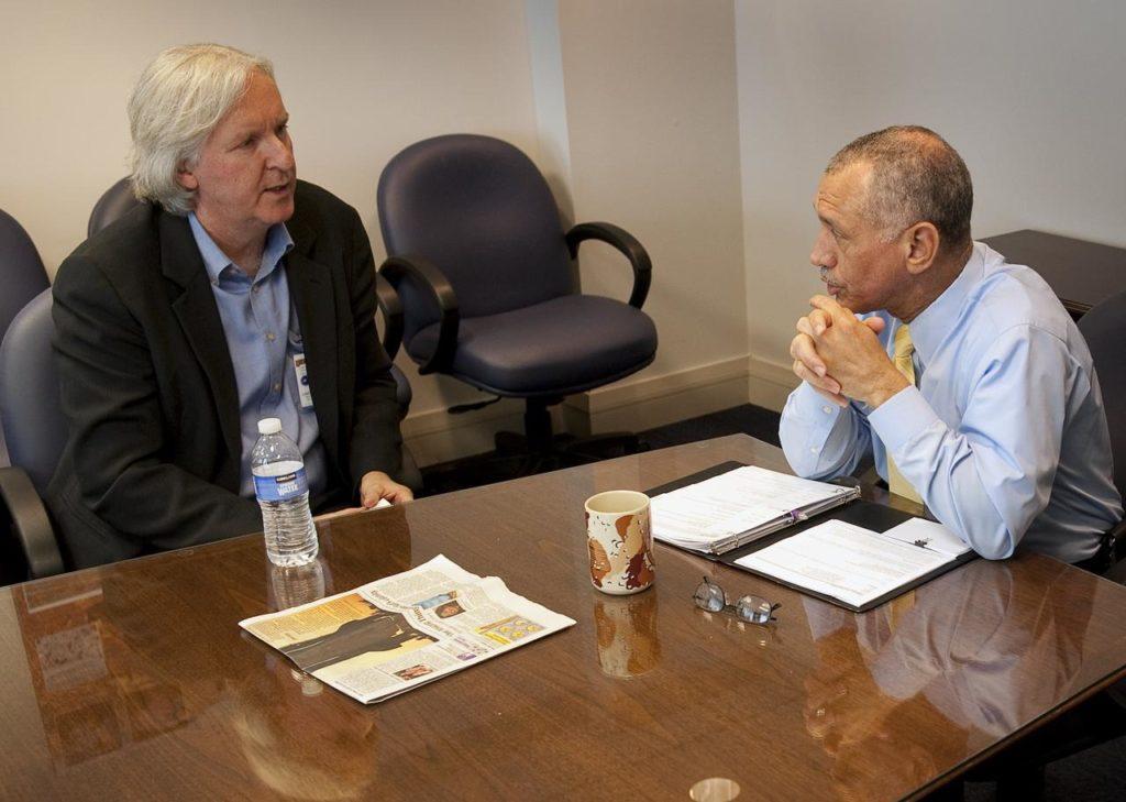 Charles Bolden and James Cameron Meet