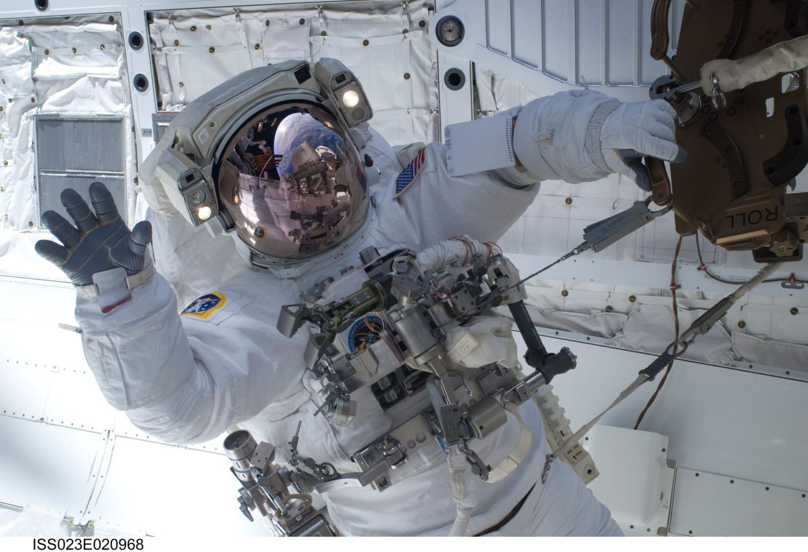 Anderson during EVA 1