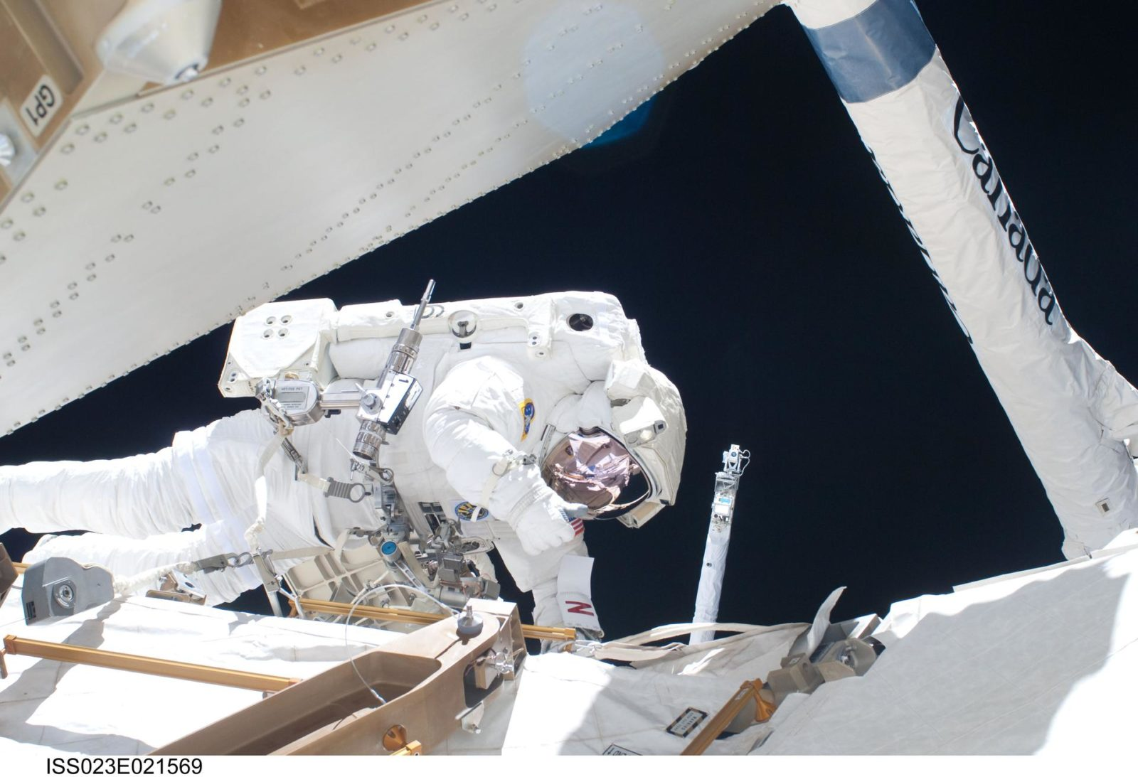 Anderson during EVA 2