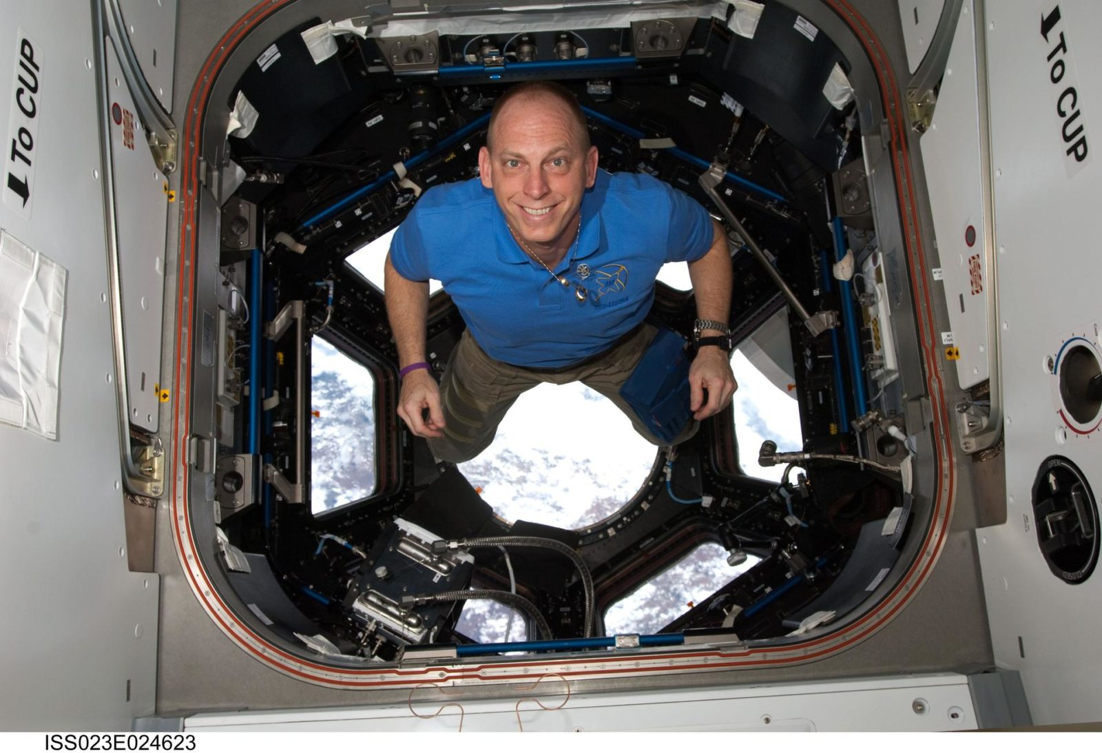 Anderson in the Cupola