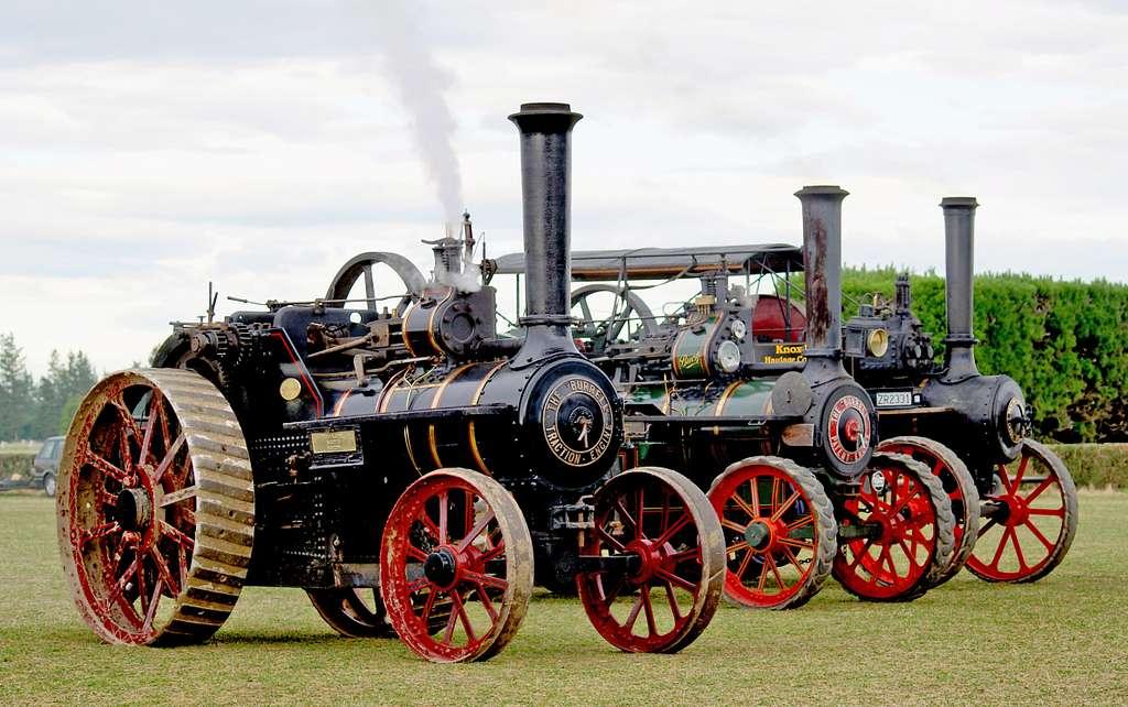 Three Burrell Traction Engines