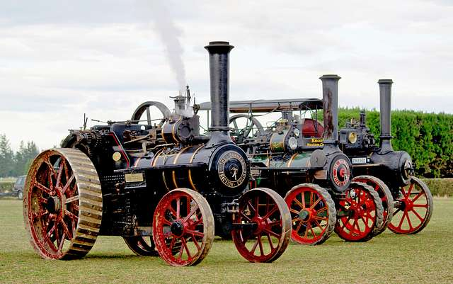 Three Burrell Traction Engines