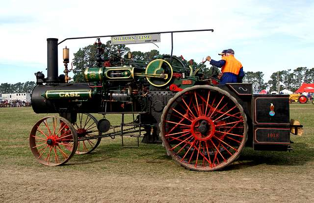 The Case Traction Engine.
