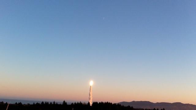 A Minotaur IV rocket, carrying NASA's Organism/Organic Exposure to Orbital Stresses (O/OREOS) nano satellite launches from the Alaska Aerospace Corporation's Kodiak Launch Complex on Nov. 19, 2010. Image credit: NASA/Matthew Daniels ARC-2010-ACD10-0244-011