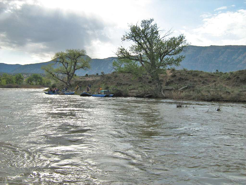 Island Park Campsite During 2008 High Flows