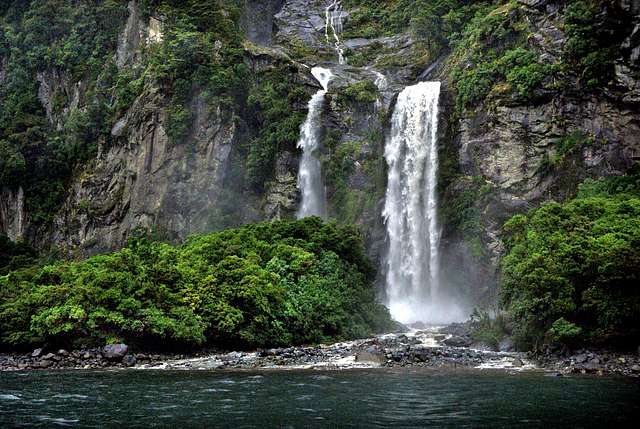 After the rain Milford Sound NZ