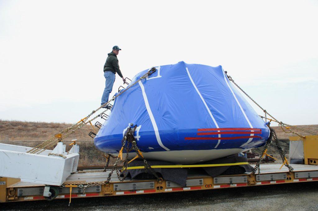 Crew Module Water Landing Model Assessment