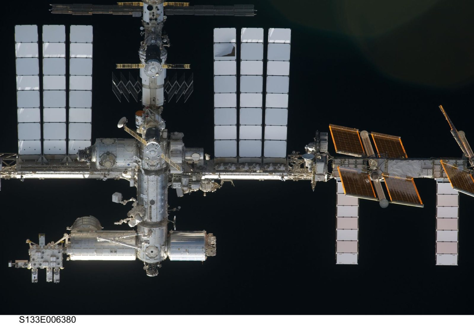 ISS during approach for docking