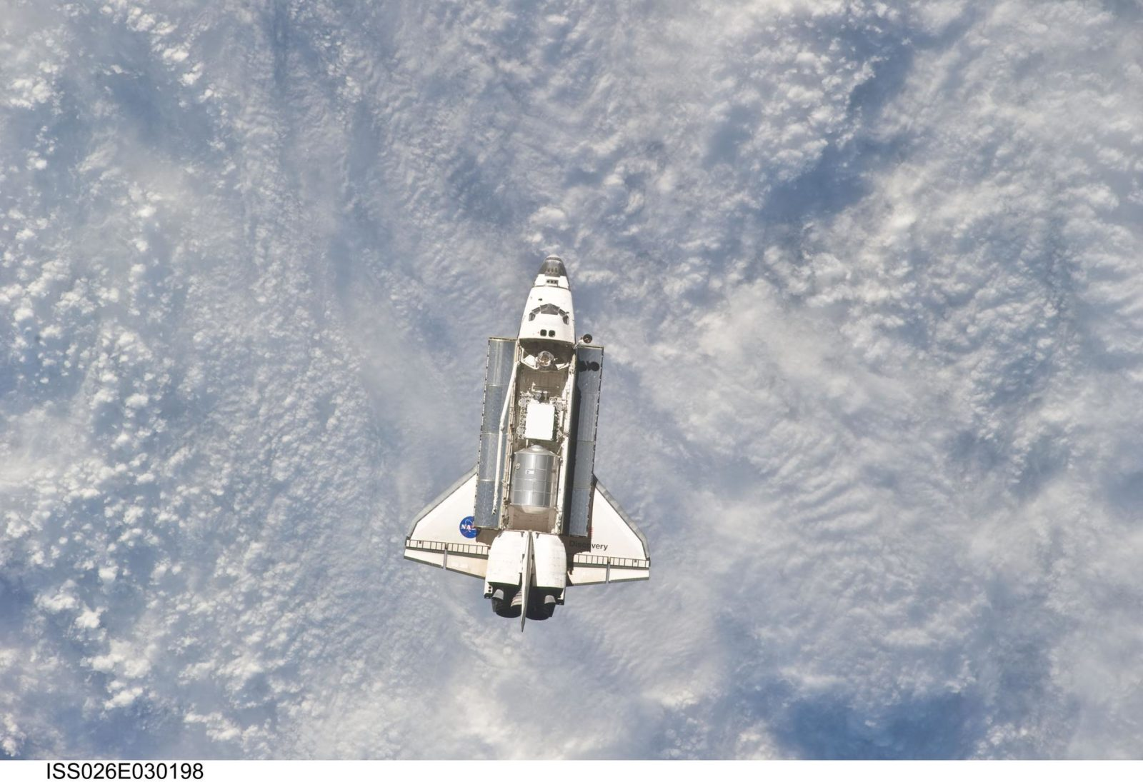 STS-133 Space Shuttle Discovery Approach