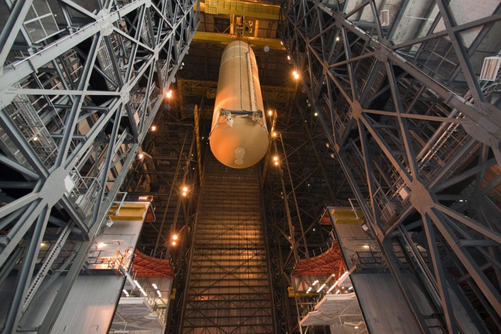 STS-135 ET-138 External Tank Mated to SRB's 2011-3043