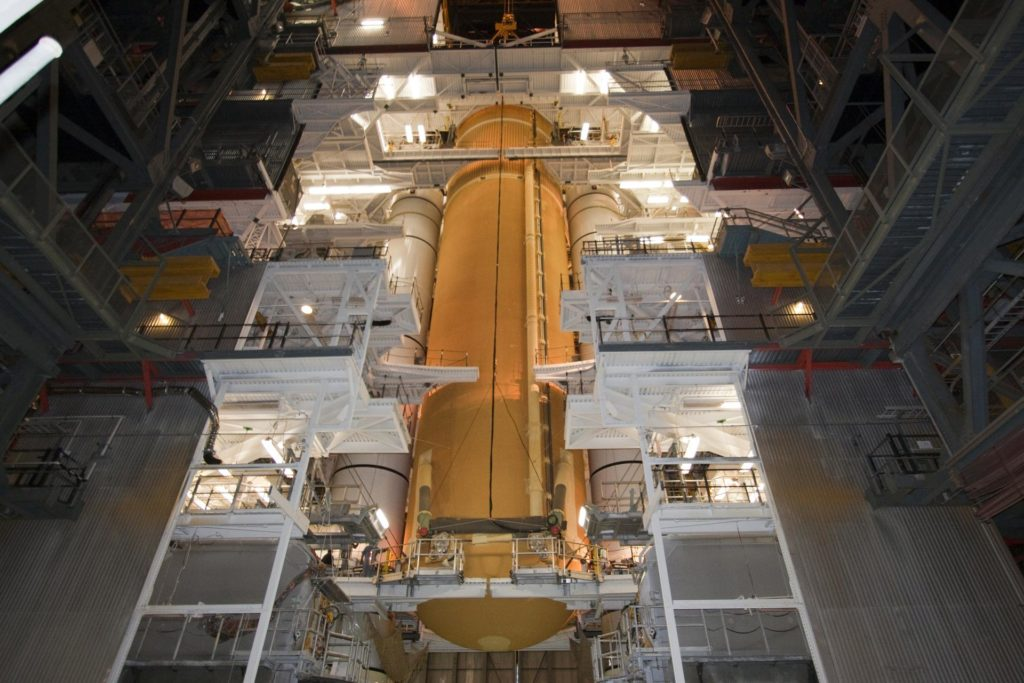 STS-135 ET-138 External Tank Mated to SRB's 2011-3053