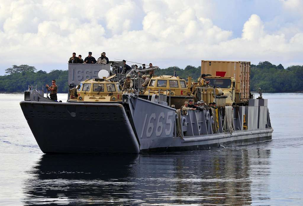 Landing Craft Utility 1665, from the amphibious transport