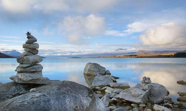 Lakeside at Lake Tekapo.NZ