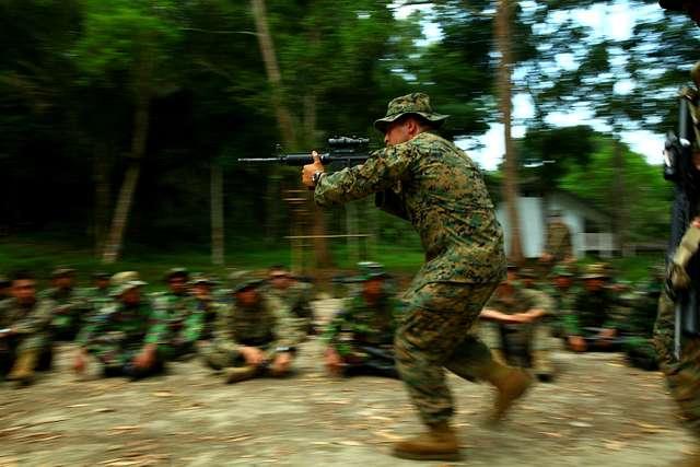 Marine demonstrates combat glide
