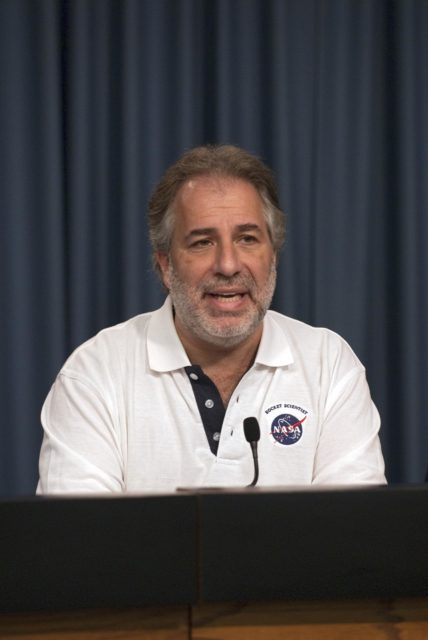 CAPE CANAVERAL, Fla. – Robert Fogel, NASA's GRAIL program scientist, participates in the Gravity Recovery and Interior Laboratory (GRAIL) mission science briefing in the NASA Press Site auditorium at NASA's Kennedy Space Center in Florida. GRAIL is scheduled to launch Sept. 8 aboard a United Launch Alliance Delta II Heavy rocket from Cape Canaveral Air Force Station in Florida.    GRAIL will fly twin spacecraft in tandem around the moon to precisely measure and map variations in the moon's gravitational field. The mission will provide the most accurate global gravity field to date for any planet, including Earth. This detailed information will reveal differences in the density of the moon's crust and mantle and will help answer fundamental questions about the moon's internal structure, thermal evolution, and history of collisions with asteroids. The aim is to map the moon's gravity field so completely that future moon vehicles can safely navigate anywhere on the moon's surface. For more information, visit http://www.nasa.gov/grail. Photo credit: NASA/Kim Shiflett KSC-2011-6764