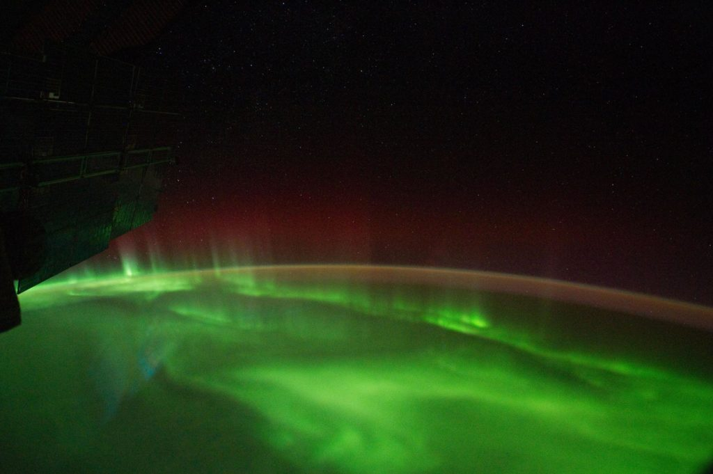 """Aurora Australis, Airglow, Terminator  view taken by the Expedition 29 crew"""