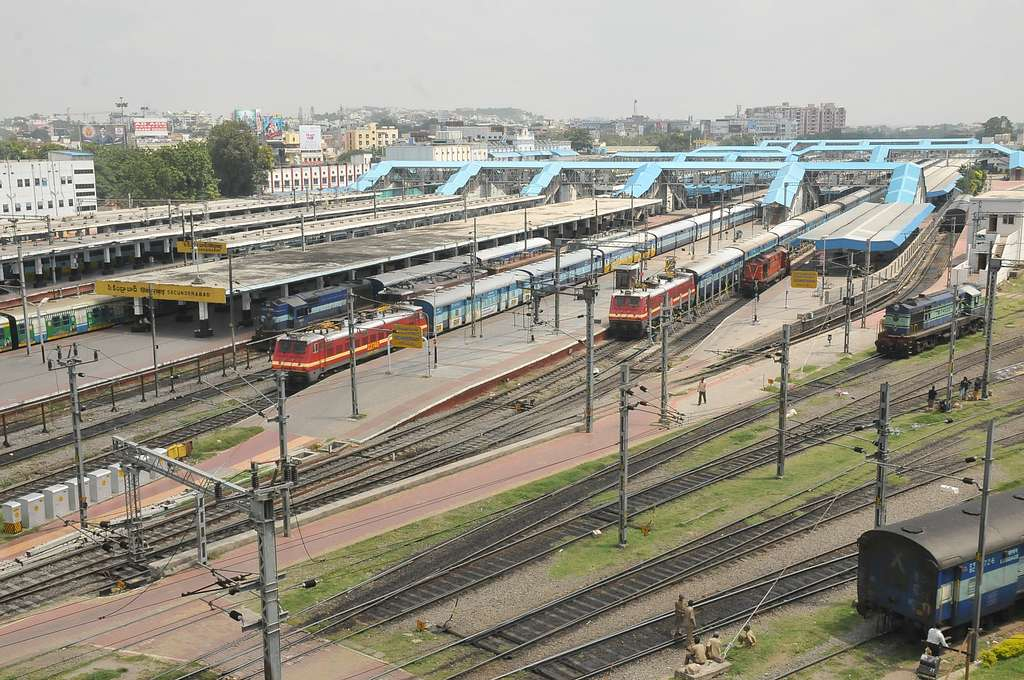 Secunderabad-station top distant view