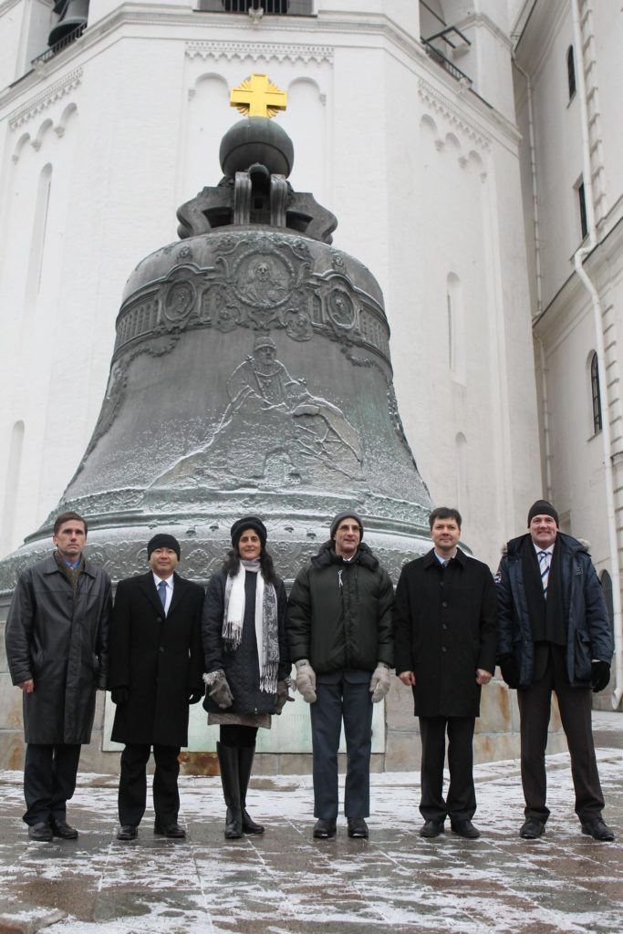 At the Kremlin in Moscow, the backup and prime crews for the next launch of Expedition 30 crewmembers to the International Space Station pose for pictures Dec. 1, 2011 in front of the Tsar Bell following traditional ceremonial activities at Red Square. From left to right are backup Soyuz Commander Yuri Malenchenko, backup NASA Flight Engineer Suni Williams, backup Flight Engineer Aki Hoshide of the Japan Aerospace Exploration Agency and the prime crew --- NASA Flight Engineer Don Pettit, Soyuz Commander Oleg Kononenko and Flight Engineer Andre Kuipers of the European Space Agency. Pettit, Kononenko and Kuipers will launch Dec. 21 from the Baikonur Cosmodrome in Kazakhstan on their Soyuz TMA-03M spacecraft.  Credit: NASA jsc2011e212761