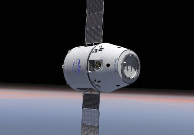 CAPE CANAVERAL, Fla. -- This is an artist's conception of the Dragon capsule under development by Space Exploration Technologies (SpaceX) of Hawthorne, Calif., for NASA's Commercial Crew Program (CCP). In 2011, NASA selected SpaceX during Commercial Crew Development Round 2 (CCDev2) activities to mature the design and development of a crew transportation system with the overall goal of accelerating a United States-led capability to the International Space Station. The goal of CCP is to drive down the cost of space travel as well as open up space to more people than ever before by balancing industry's own innovative capabilities with NASA's 50 years of human spaceflight experience. Six other aerospace companies also are maturing launch vehicle and spacecraft designs under CCDev2, including Alliant Techsystems Inc. (ATK), The Boeing Co., Excalibur Almaz Inc., Blue Origin, Sierra Nevada, and United Launch Alliance (ULA). For more information, visit www.nasa.gov/commercialcrew. Image credit: Space Exploration Technologies KSC-2011-8117