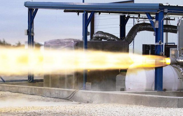 MCGREGOR, Texas -- Space Exploration Technologies (SpaceX) completes a full-duration, full-thrust firing of its new SuperDraco engine prototype at the company's Rocket Development Facility in McGregor, Texas. The firing was in preparation for the ninth milestone to be completed under SpaceX's funded Space Act Agreement (SAA) with NASA's Commercial Crew Program (CCP). SpaceX is working with CCP during Commercial Crew Development Round 2 (CCDev2) in order to mature the design and development of its Dragon spacecraft with the overall goal of accelerating a United States-led capability to the International Space Station. Eight SuperDracos would be built into the sidewalls of the Dragon capsule to carry astronauts to safety should an emergency occur during launch or ascent. The goal of CCP is to drive down the cost of space travel as well as open up space to more people than ever before by balancing industry's own innovative capabilities with NASA's 50 years of human spaceflight experience. Six other aerospace companies also are maturing launch vehicle and spacecraft designs under CCDev2, including Alliant Techsystems Inc. (ATK), Blue Origin, The Boeing Co., Excalibur Almaz Inc., Sierra Nevada Corp. and United Launch Alliance (ULA). For more information, visit www.nasa.gov/commercialcrew KSC-2012-1209