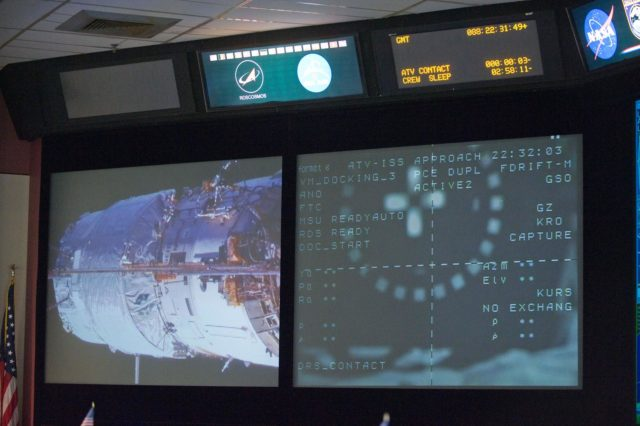 PHOTO DATE:  03-28-12 LOCATION:  Bldg. 30 - FCR-1 (30M/231)  SUBJECT: Expedition 30 flight control team during docking of ESA's ATV vehicle to ISS.  PHOTOGRAPHER: BILL STAFFORD jsc2012e038625