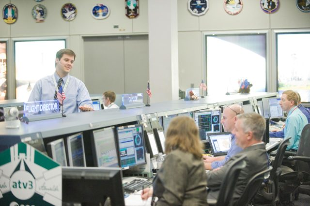 PHOTO DATE:  03-28-12 LOCATION: Bldg. 30 - FCR-1 (30M/231)   SUBJECT: Expedition 30 flight control team during docking of ESA's ATV vehicle to ISS. PHOTOGRAPHER: BILL STAFFORD jsc2012e039190
