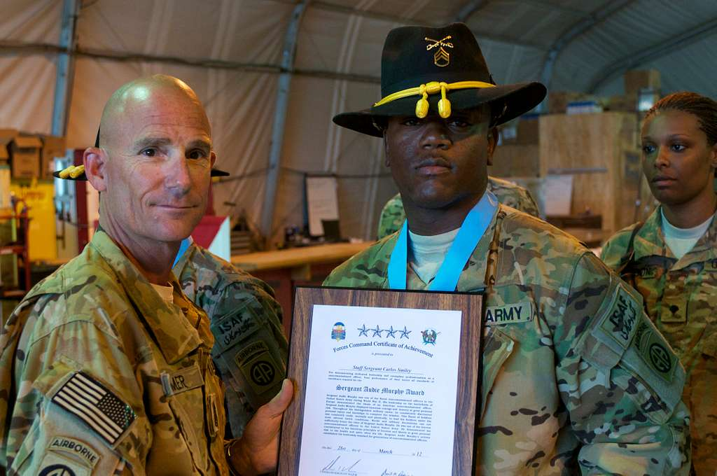 The 82nd Combat Aviation Brigade's Command Sgt. Maj.