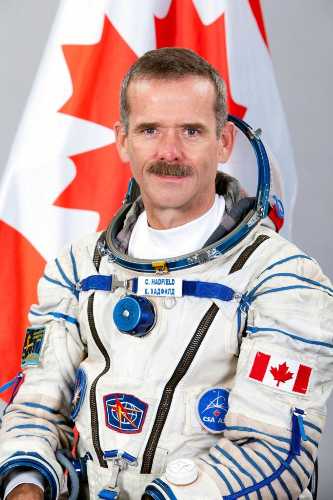 JSC2012-E-096295 (7 June 2012) --- Canadian Space Agency astronaut Chris Hadfield, Expedition 32 backup crew member, attired in a Russian Sokol launch and entry suit, takes a break from training in Star City, Russia to pose for a portrait. Photo credit: Gagarin Cosmonaut Training Center jsc2012e096295
