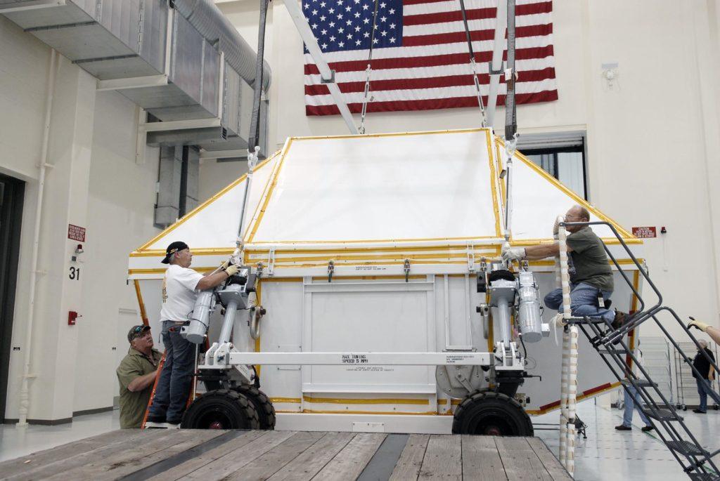 Orion EFT-1 Crew Module Uncrating 2012-3569
