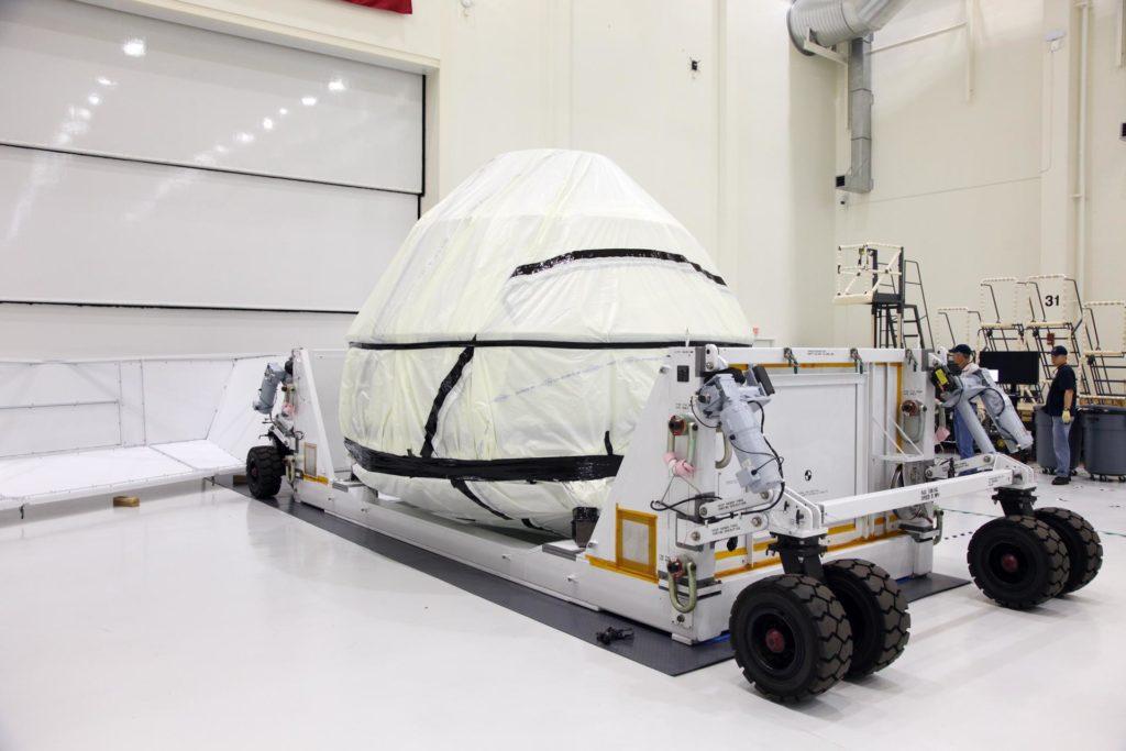 Orion EFT-1 Crew Module Being Uncrated 2012-3592