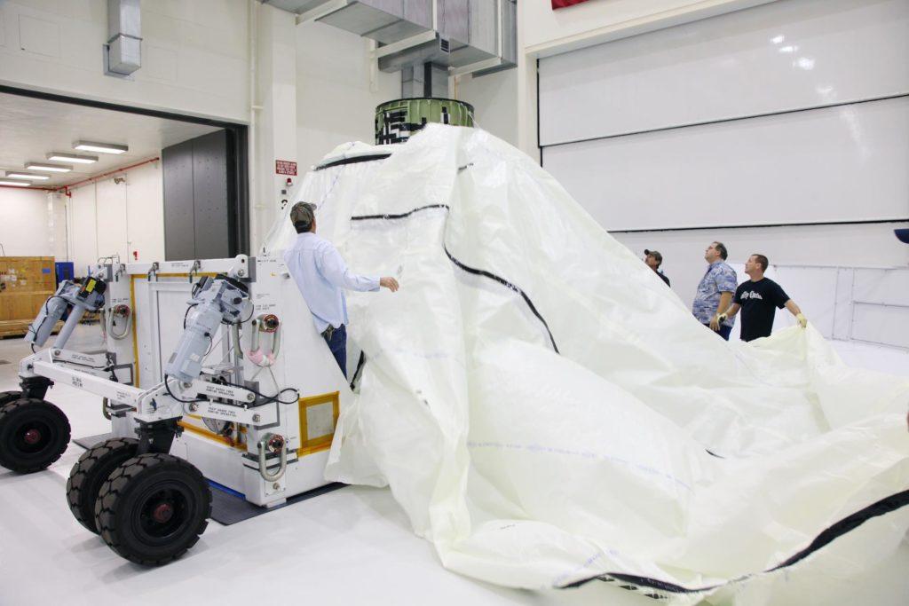 Orion EFT-1 Crew Module Being Uncrated 2012-3594
