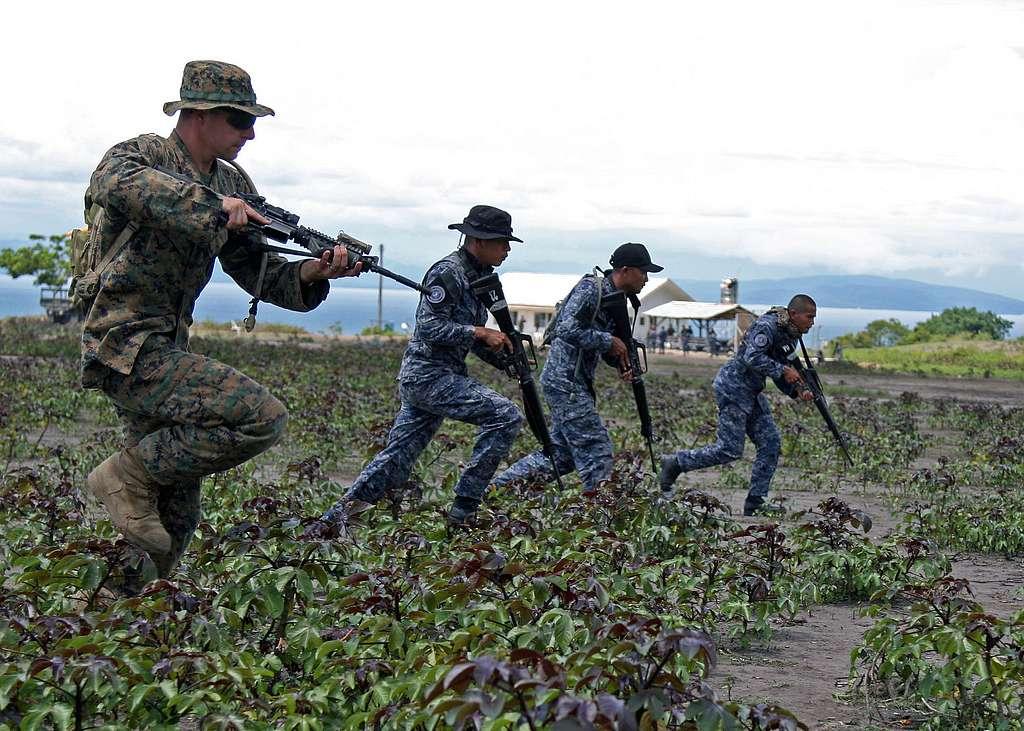 A U.S. Marine assigned to Fleet Anti-terrorism Security