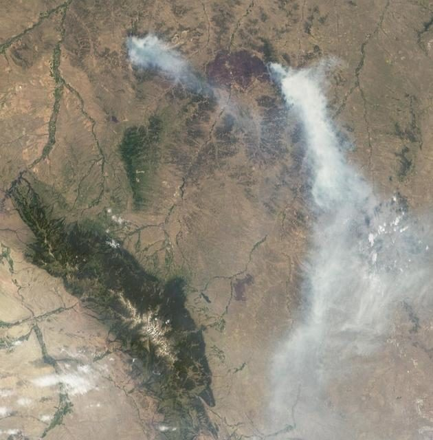 NASA MISR Views Raging Wildfires in Southeastern Montana